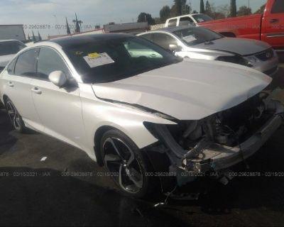 Salvage White 2018 Honda Accord Sedan