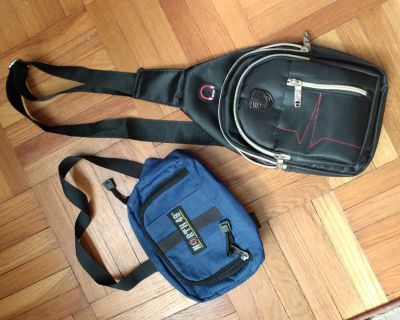 Biking, Fanny pack and Courier/Walking day bags.