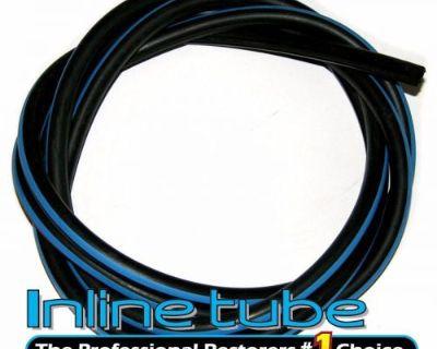 1968 1969 Gto Hide-a-way Vacuum Hose Blue Stripe For Firewall Lip 7 Feet 1pc