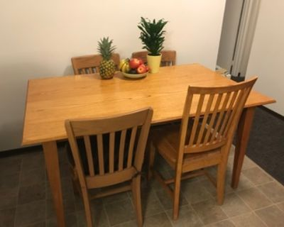 $175 Hand made dining room table and 4 chairs