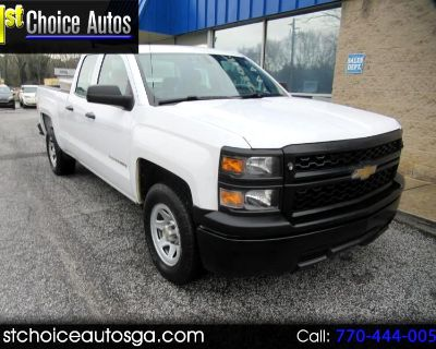 "Used 2014 Chevrolet Silverado 1500 2WD Double Cab 143.5"" Work Truck w/1WT"