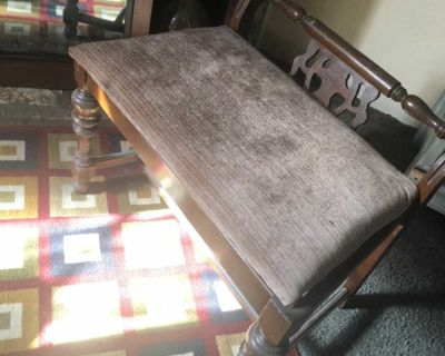 Antique Vanity Seat or Piano Chair