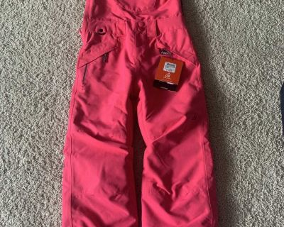Girls pink raspberry ripzone snow pants. Brand new with tags.