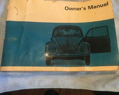 Original 1969 bug glove box manual