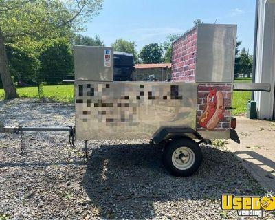 Licensed Street Food Vending Cart / Inspected Hot Dog Concession Cart