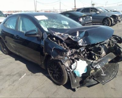 Salvage Dark Blue 2017 Toyota Corolla