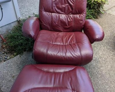 Recliner with Ottoman, also Various Tables