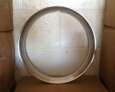 Trim Ring Hot Rod Style - Ribbed 14''diameter