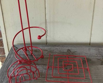 Red Kitchen Accessory Set
