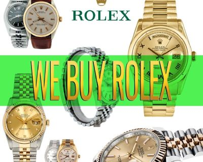We Offer CASH for ROLEX WATCHES