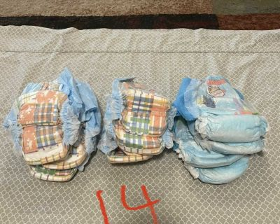 14 pampers splashes size 5 & Large swim diapers