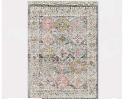 5x7 monarch geometric tile printed persian rug