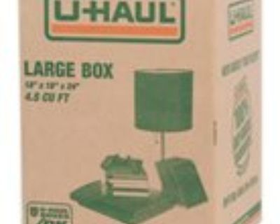 New, unused flat UHaul boxes for sale [35 total]