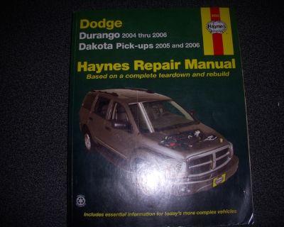 HAYNES REPAIR MANUAL FOR 2004-2006 DODGE DURANGO & DAKOTA