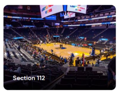 Warriors vs. Grizzlies Sunday 5/16, 12:30PM Lower Level 4 Tickets