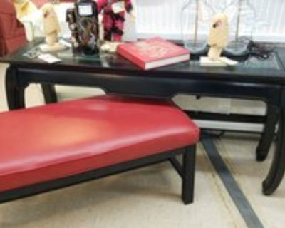 Black Painted Asian Sofa Table #1265-6209