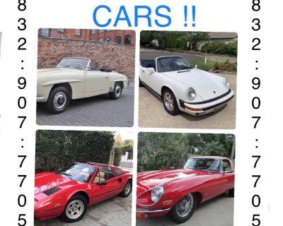 WE BUY CLASSIC CARS