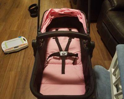 Pink baby joy bassinet stroller