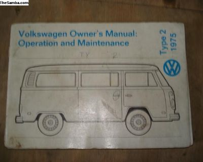 1975 Type 2 Owners Manual