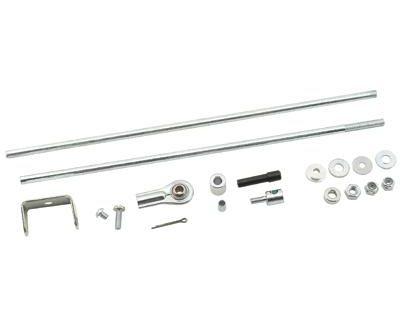 Mr. Gasket 3830g Dual Quad Carburetor Linkage Kit Inline