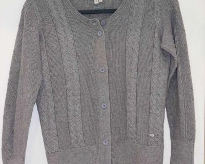 Gray Lacoste cardigan