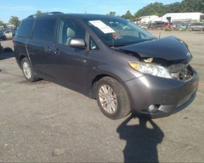 Salvage Gray 2011 Toyota Sienna