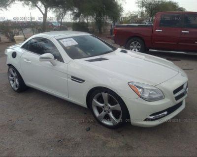 Salvage White 2012 Mercedes-benz Slk-class
