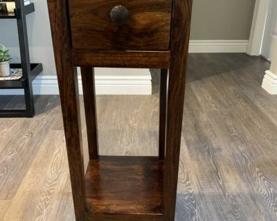 Solid wood telephone table