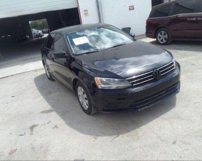 Salvage Black 2015 Volkswagen Jetta Sedan