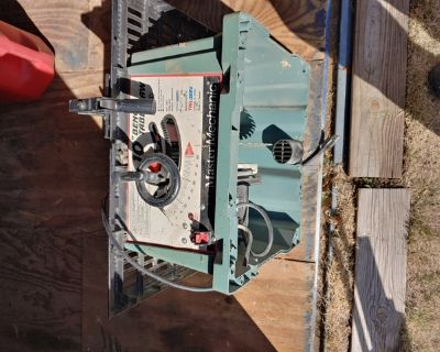 Table saw and chop saw