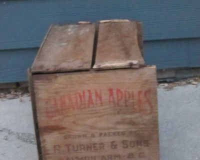 Canadian Apples Wooden Crate #1 - see additional photos in comments