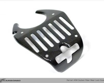 Carbonio Ferrari 458 Carbon Fiber Engine Bonnet Latch Cover F458 Cf Speciale