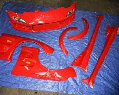 Mazda Rx7 Fd3s C West Wide Body Kit Front Bumper Fenders Flares Side Skirts Jdm