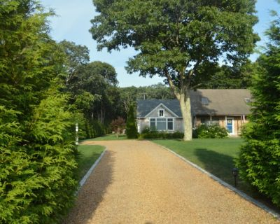 Pristine Retreat - Spectacular outdoor space - New Blue Stone Patio and Fire Pit - Oak Bluffs