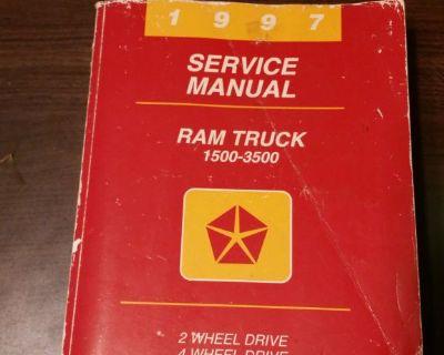 1997 Dodge Ram 1500 2500 3500 BR Truck Pick Up Service Shop Repair Manual Diesel