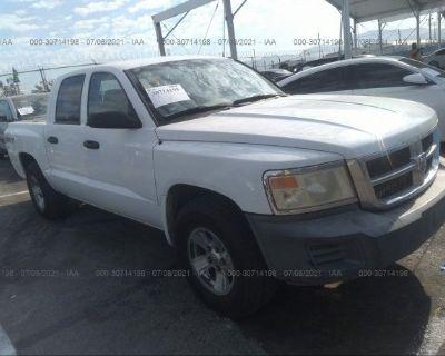 Salvage White 2008 Dodge Dakota