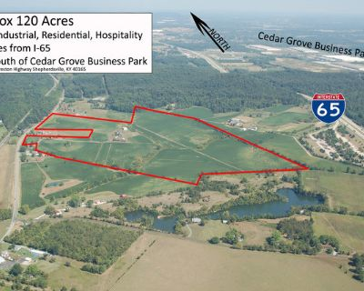 120 Acres On Highway 61 and I-65 Just South of Shepherdsville