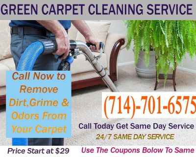 STARTING $29 SPECIAL RATE-GREEN CARPET CLEANING SERVICES