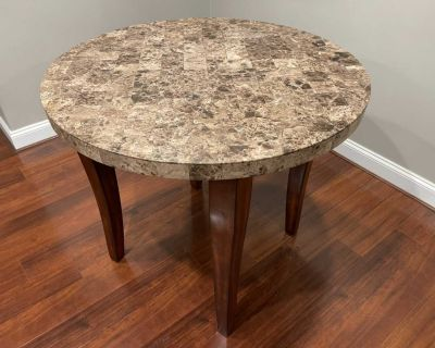 *Delivery Available* Elegant Stone Round Kitchen Breakfast Dining Table