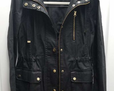 Forever 21 Black hooded jacket, Size: S