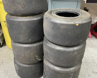 Lot of Used go kart tires