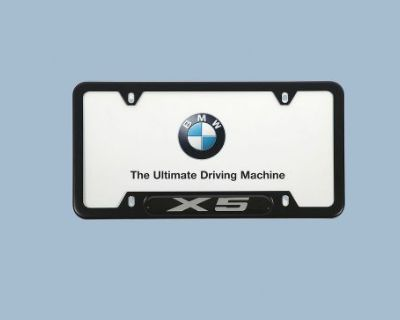 Bmw X5 Oem Black License Plate Frame 82120418627