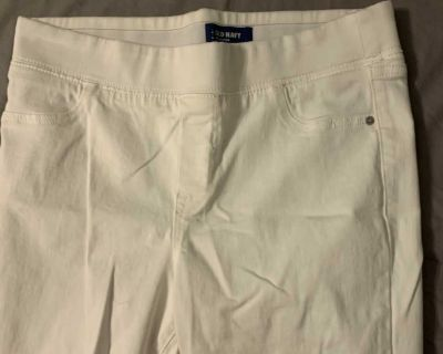 OLD NAVY ROCKSTAR NO SHOW WHITE jeans