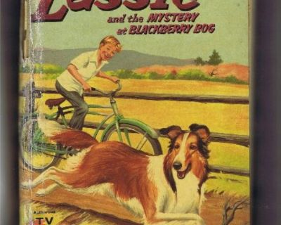 Lassie Vintage Book - 1956 - Authorized TV Edition - Hard Cover