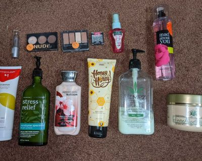 Perfume, lotion, makeup, click photo to see all