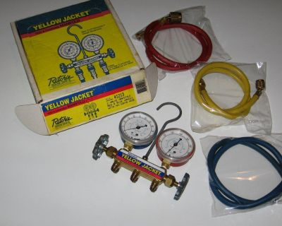AC Test and Charging Manifold R134a-Ritchey Yellow Jacket