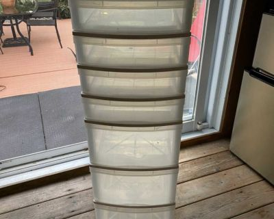 Storage container with 7 drawers
