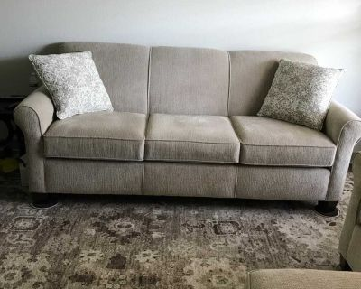 Sofa and chair with ottoman