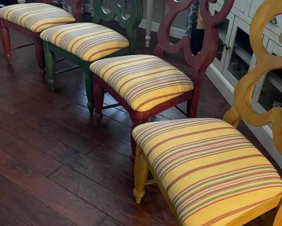 Set of 4 Dining Chairs - Solid wood, well made, high quality. See details and additional photos for explanation of what these are valued.