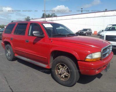 Salvage Red 2002 Dodge Durango